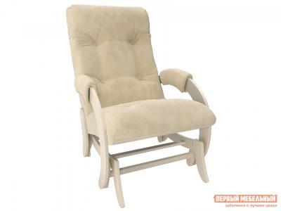 Кресло-качалка  глайдер Комфорт Модель 68 Дуб Шампань, Verona Vanilla, велюр Мебель Импэкс. Цвет: светлое дерево
