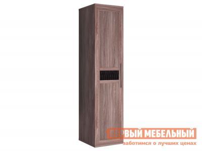 Распашной шкаф  Шкаф-пенал Парма Ясень Шимо темный / Искусственная кожа caiman КУРАЖ. Цвет: темное-cветлое дерево