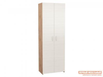 Распашной шкаф  Уно-35 Дуб Сонома / Белый МФ Мастер. Цвет: светлое дерево