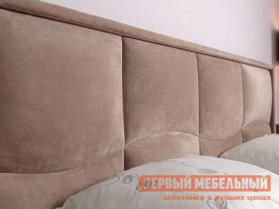 Двуспальная кровать  Брауни 307 Мокко / Коричневый, микрофибра, С подъемным механизмом Глазов. Цвет: коричневый