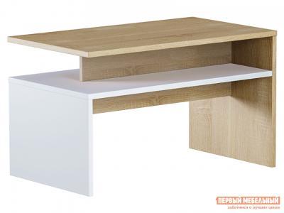 Журнальный столик  Лайт малый Дуб Сонома / Белый (текстура дерева) Моби. Цвет: светлое дерево
