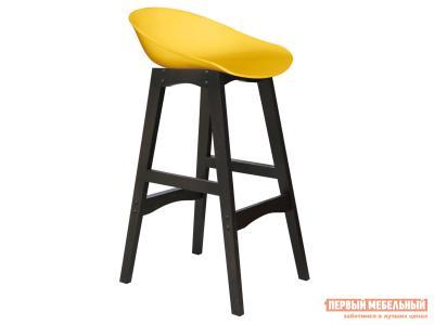 Барный стул  SHT-ST19/S65 Желтый, пластик / Венге, массив бука Sheffilton. Цвет: желтый
