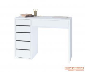 Письменный стол  СПм-10 Белый, Левый Тайга. Цвет: белый