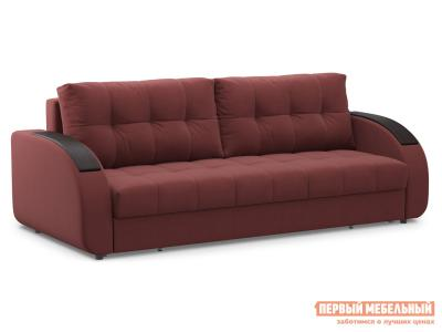 Прямой диван  Долар / Люкс Бордо, велюр, Независимый пружинный блок Живые диваны. Цвет: красный