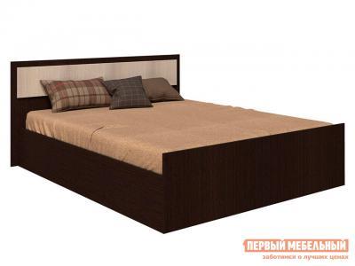 Двуспальная кровать  Фиеста Венге / Лоредо, 140х200 см BTS. Цвет: темное-cветлое дерево