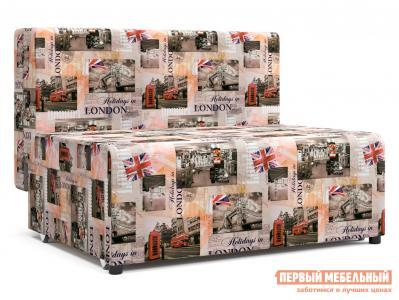 Прямой диван  Умка Лондон, микровелюр СтолЛайн. Цвет: мультицвет
