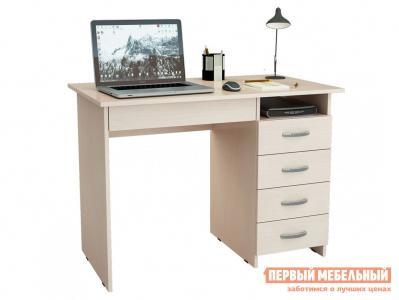 Компьютерный стол  письменный Милан-1 (0120) Дуб молочный МФ Мастер. Цвет: светлое дерево