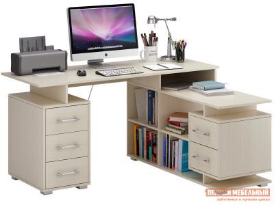 Компьютерный стол  Барди-3 угловой Дуб молочный МФ Мастер. Цвет: светлое дерево