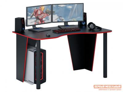 Компьютерный стол  МСТ-СИТ-02 игровой Таунт-2 Черный с красной кромкой МФ Мастер. Цвет: черный