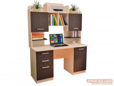 Компьютерный стол  СК-9 Молочный дуб / Венге Фабрика Пирамида. Цвет: венге