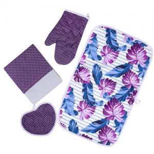 Полотенца Традиция. Цвет: сиреневый, фиолетовый