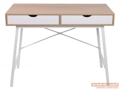Письменный стол  AGAT Светлый дуб / Белый Базистрейд. Цвет: белый