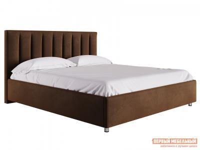 Двуспальная кровать  с подъемным механизмом Кармэн Коричневый, микровелюр, 1600 Х 2000 мм Первый Мебельный. Цвет: коричневый