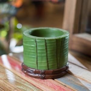 Свеча Banana Leaf Small Pillar Teak House