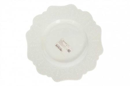 Тарелка десертная 21 см Vivien WALMER. Цвет: белый