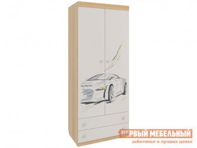 Детский шкаф  Форсаж MKF-01.1623 Дуб сонома / Белый Мебельсон. Цвет: белый