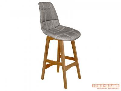 Барный стул  SHT-ST29-С/S65-1 Пепельный, рогожка / Светлый орех, массив бука Sheffilton. Цвет: серый