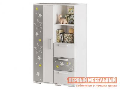 Шкаф детский  Трио многофункциональный ШК-10 Белый, звездное детство BTS. Цвет: белый