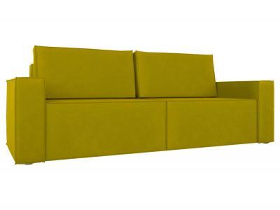 Прямой диван  Лофт Фисташковый, велюр Столлайн. Цвет: желтый