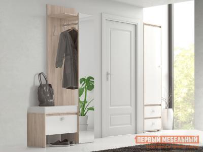 Прихожая  Кент (модуль) 73090146 Дуб Сонома / Белый НК-Мебель. Цвет: белый