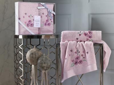 Полотенца Karna. Цвет: розовый, сиреневый
