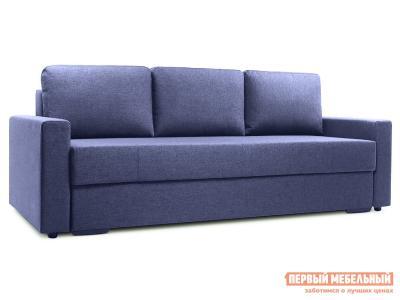Прямой диван  Фишер Синий, рогожка Пиррогрупп. Цвет: синий