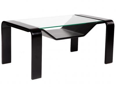 Журнальный столик  Стол Гурон 1 Венге / Стекло прозрачное Мебелик. Цвет: венге