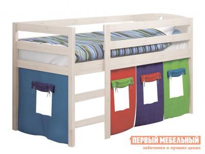 Детская кровать  массив новая Выбеленная береза Боровичи. Цвет: светлое дерево