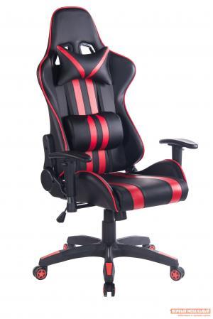 Игровое кресло  iCar Иск. кожа черная / красная Tetchair. Цвет: черный