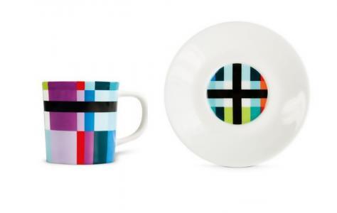 Чашка для эспрессо с блюдцем Zigzag Remember