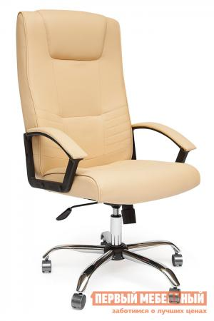 Кресло руководителя  Maxima хром Иск. кожа бежевая PU C36-34 Tetchair. Цвет: бежевый