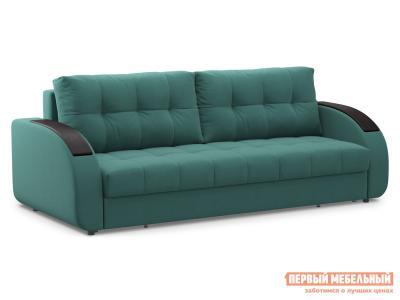 Прямой диван  Долар / Люкс Зеленый, велюр, Независимый пружинный блок Живые диваны. Цвет: зеленый
