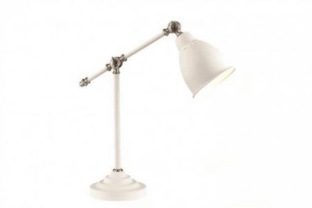 Лампа настольная Cruz Odeon Light. Цвет: белый, никель