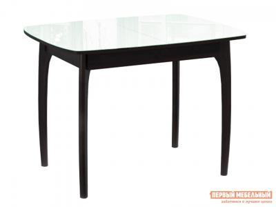 Кухонный стол  М15 ДН4 Венге / Стекло белое ДИК. Цвет: белый