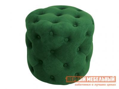 Пуфик  Пуф Милана Тип 1 Темно-зеленый, велюр ТриЯ. Цвет: зеленый