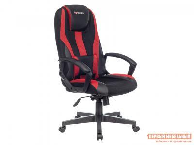 Игровое кресло  VIKING-9 Черный, экокожа / Черно-красный, сетка Бюрократ. Цвет: черный