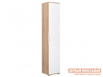 Распашной шкаф  Пенал Куба 13.29 Дуб сонома / Белый Моби. Цвет: белый