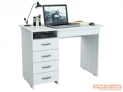 Компьютерный стол  письменный Милан-1 (0120) Белый МФ Мастер. Цвет: белый