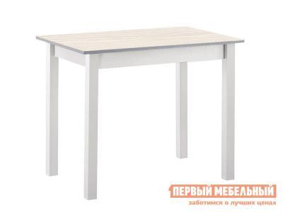 Кухонный стол  обеденный прямая ножка Авола ЛДСП / Белый Боровичи. Цвет: светлое дерево