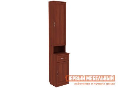 Прихожая  Шкаф для прихожей Мерлен ПР1 Итальянский орех Уют сервис. Цвет: красное дерево