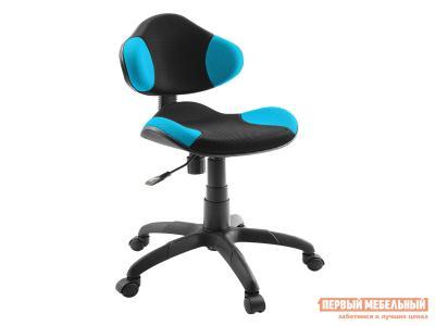 Детское компьютерное кресло  Логика Dikline KD32 Голубой / Черный, сетка ДИК. Цвет: черный