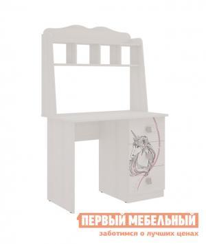 Компьютерный стол детский  Фэнтези письменный Белый Рамух Мебельсон. Цвет: светлое дерево