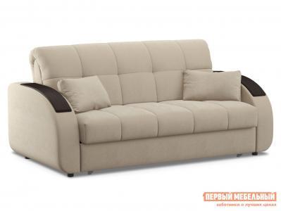 Прямой диван  Уильям / Люкс Бежевый, велюр, 160х200 см, Пенополиуретан Живые диваны. Цвет: бежевый