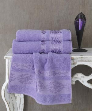 Полотенца Karna. Цвет: сиреневый, фиолетовый