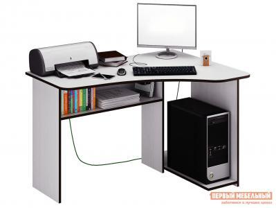 Компьютерный стол  Триан-1 Белый, Правый МФ Мастер. Цвет: белый