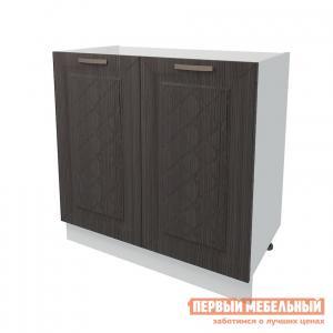 Кухонный модуль  Стол под накладную мойку 2 двери 80 см Агава Лиственница темная РДМ. Цвет: коричневое дерево