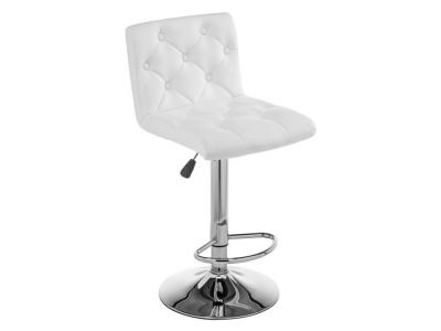 Барный стул  Sandra Белый, кожзам / Хром Лайфмебель. Цвет: белый