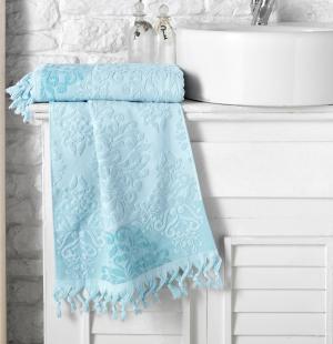 Полотенца Karna. Цвет: голубой