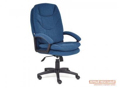 Кресло руководителя  COMFORT LT Синий, флок Tetchair. Цвет: синий