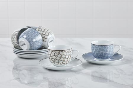 Набор чайных пар на 6 персон Art D?co Bella IMPRESS